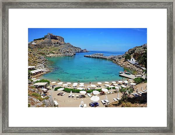 Greece, Dodecanese, Rhodes, Lindos, St Framed Print