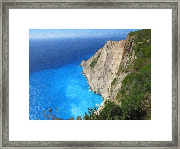 Greek Coast Grk4188 Framed Print