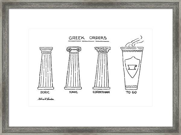 Greek Orders Framed Print