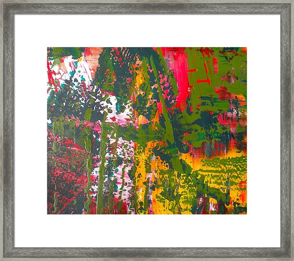 Green Abstract 3 Framed Print