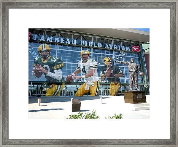 Green Bay Packers Lambeau Field Framed Print