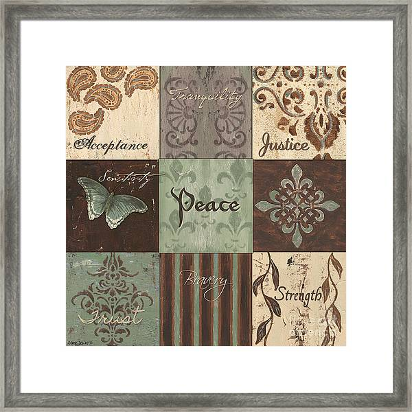 Green Brown Wtlb 2 Framed Print