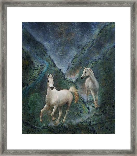 Framed Print featuring the photograph Green Canyon Run by Melinda Hughes-Berland