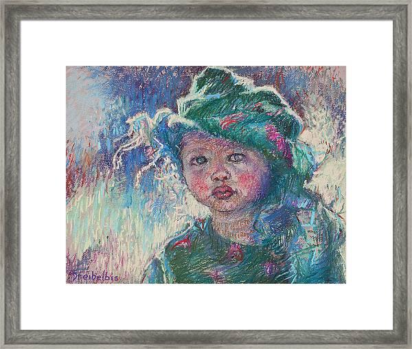 Green Child Framed Print