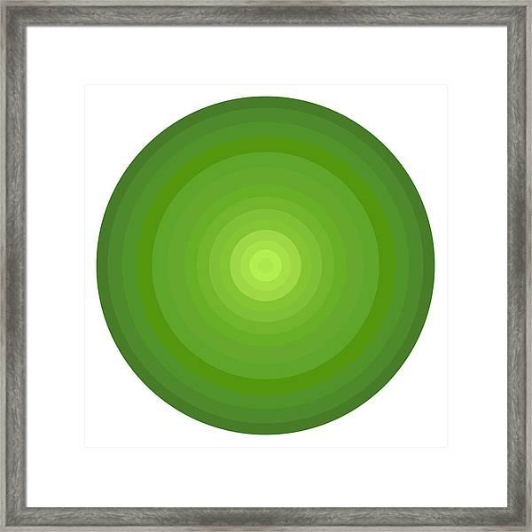 Green Circles Framed Print
