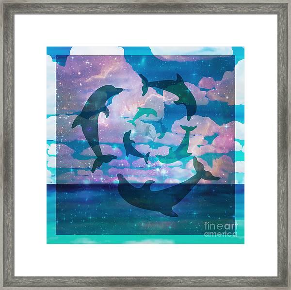 Green Dolphin Dance Framed Print