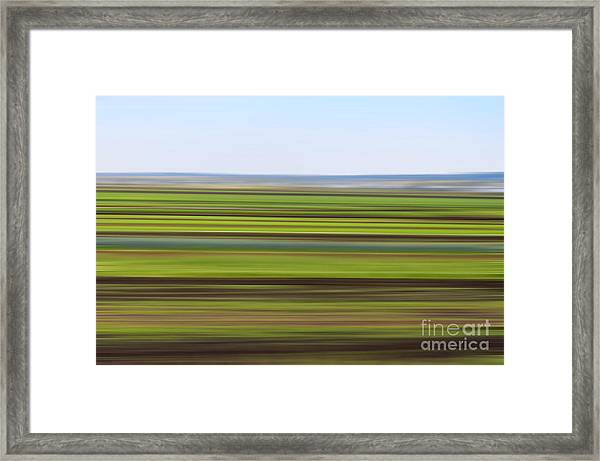 Green Field Abstract Framed Print