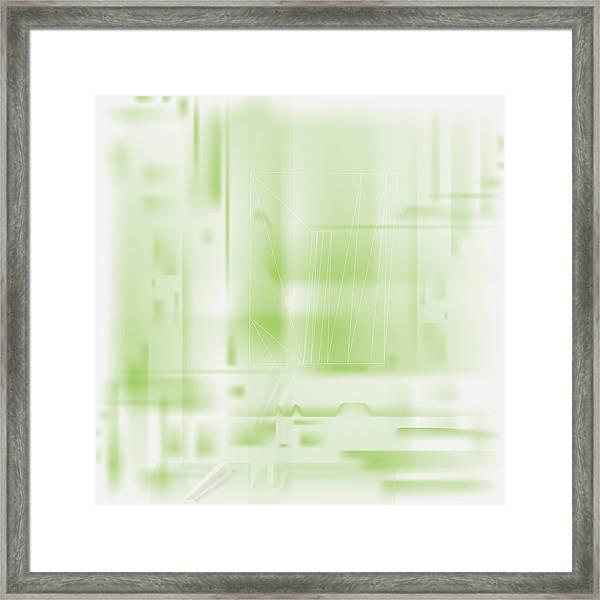 Green Ghost City Framed Print