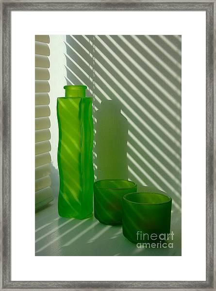 Green Green Glass Framed Print