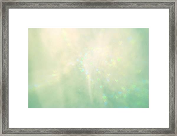 Green Hearts Framed Print