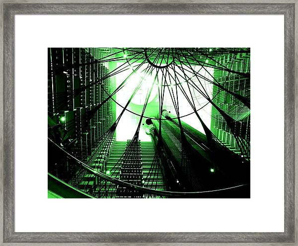 Green Marriott Marque Framed Print