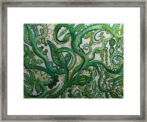 Green Meditation Framed Print