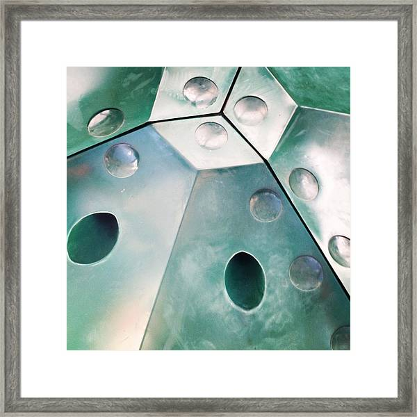 Green Metal Abstract Framed Print