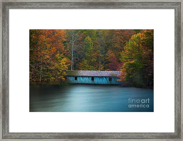 Green Mountain Covered Bridge Huntsville Alabama Framed Print