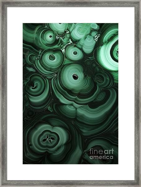 Green Patterns Of Malachite Framed Print
