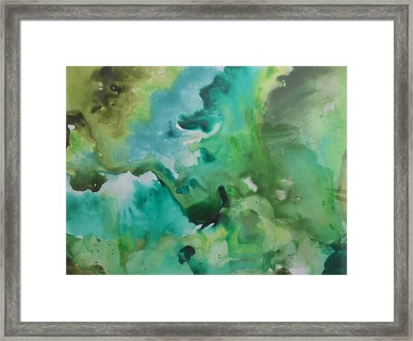 Green Piece Framed Print