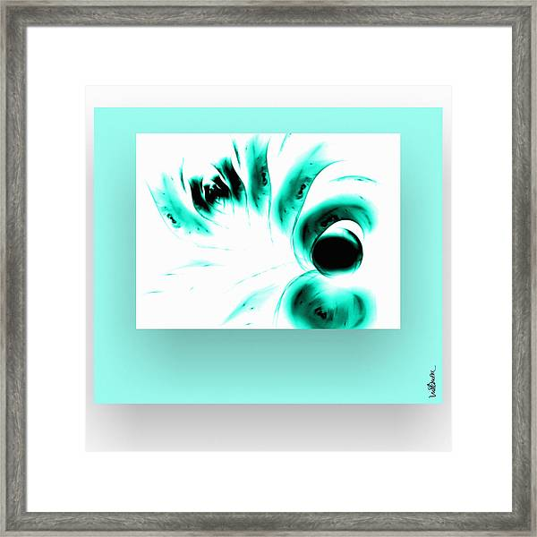 Framed Print featuring the digital art Green Reflection by Mihaela Stancu