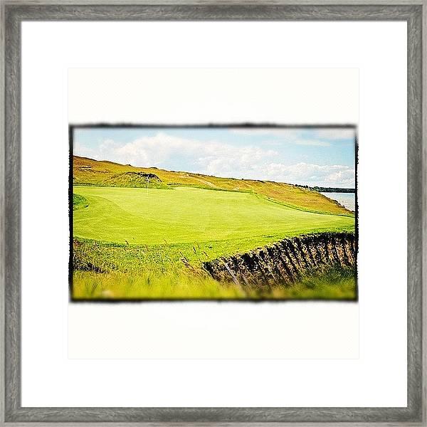 Green Side Framed Print