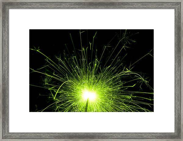 Green Sparkle Framed Print