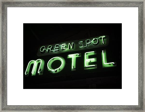 Green Spot Motel Framed Print