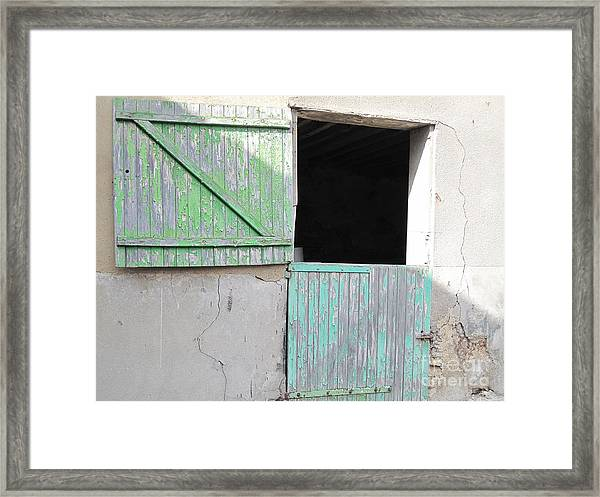 Green Stable Door Framed Print
