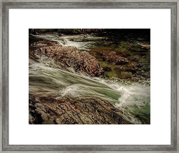 Green Stream Framed Print