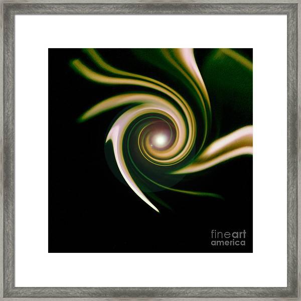Green Swirl Framed Print