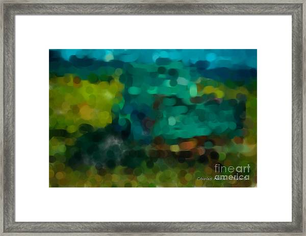 Green Truck In Abstract Framed Print