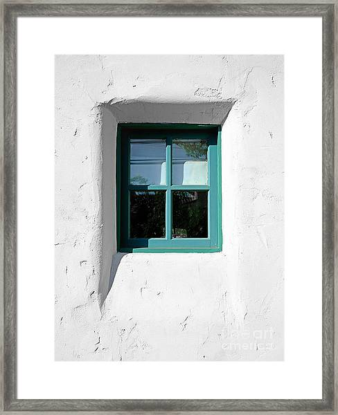 Green Window Framed Print