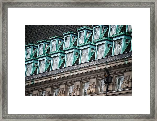 Green Windows Framed Print
