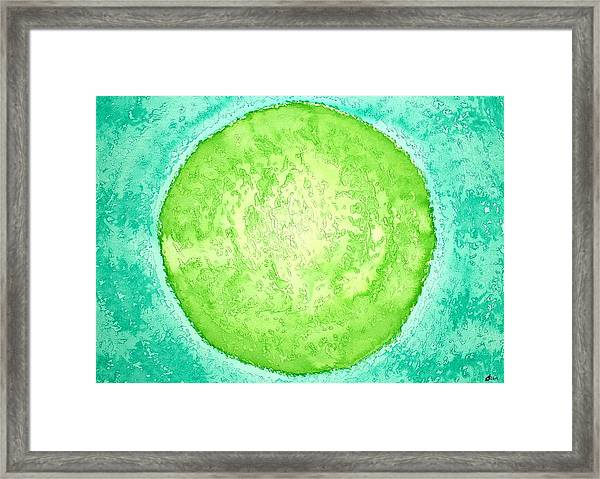 Green World Original Painting Framed Print