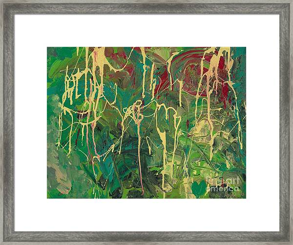 Green Yellow Abstract Framed Print