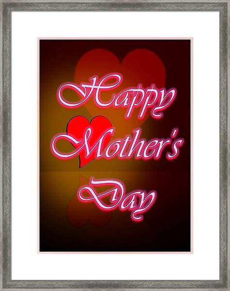Greeting Card For Mothers 2 Framed Print