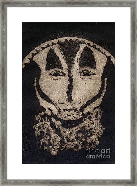 Greetings From New Guinea - Mask - Tribesmen - Tribesman - Tribal - Jefe - Chef De Tribu Framed Print