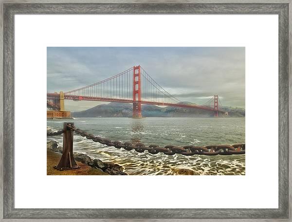 Greetings From San Franciosco Framed Print