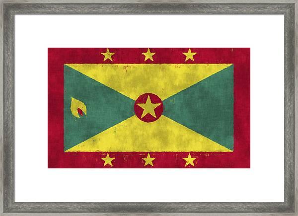 Grenada Flag Framed Print