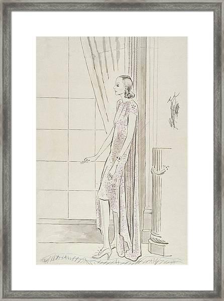 Greta Garbo By A Window Framed Print by Cecil Beaton