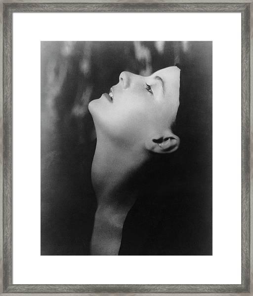 Greta Garbo Looking Up Framed Print