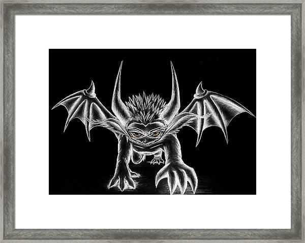Grevil Chalk Framed Print