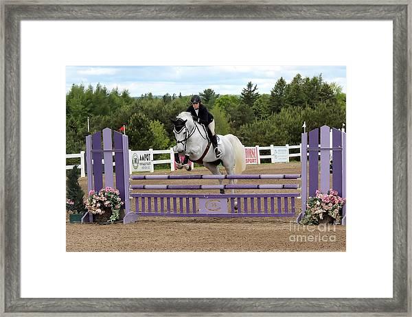 Grey Jumper Framed Print