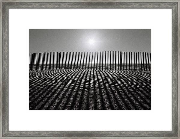 Grey Over Grey Framed Print