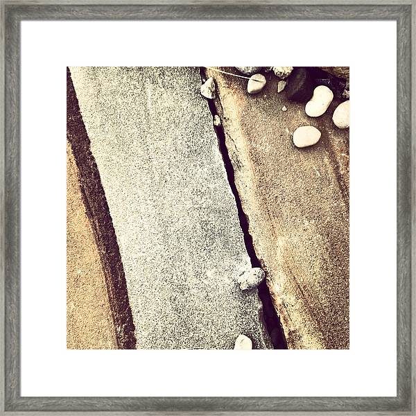 Grey Stone Abstract Framed Print