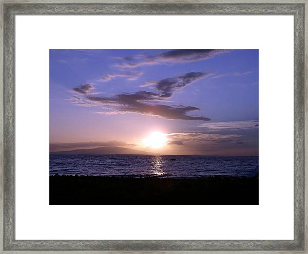 Greyhound In The Sky Framed Print