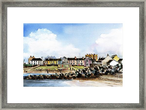 Greystones North Beach  Wicklow Framed Print