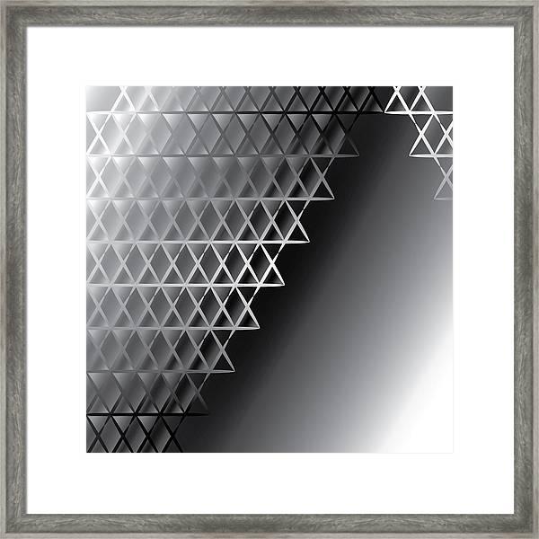 Grid 60 Float Framed Print