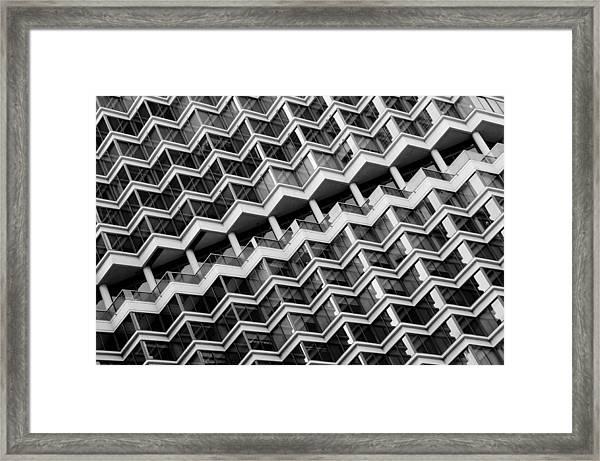 Grid Lines Framed Print