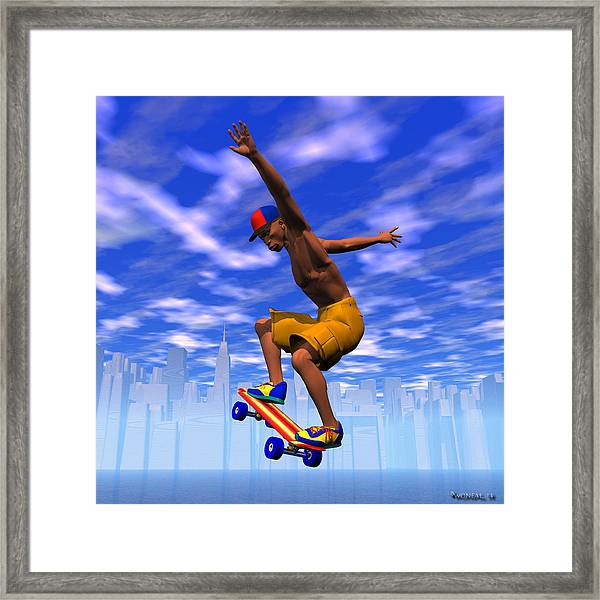 Grinding On The Air Framed Print