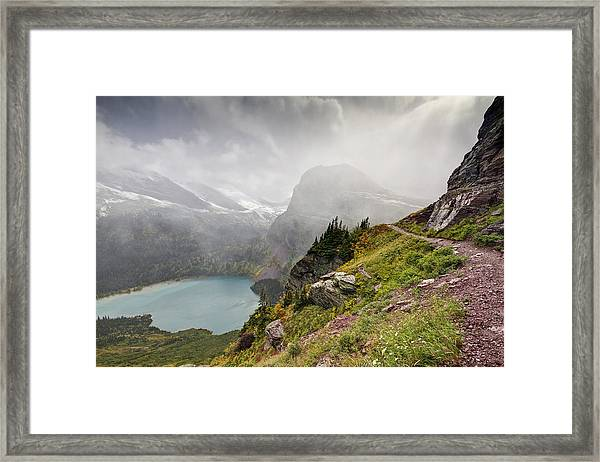 Grinnell Glacier Trail Framed Print