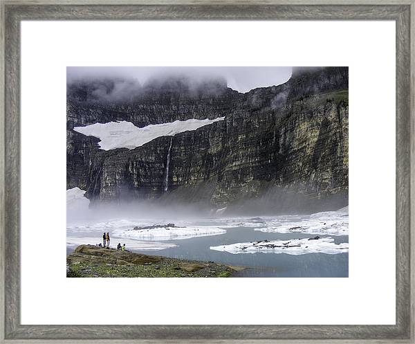 Grinnell In The Clouds Framed Print