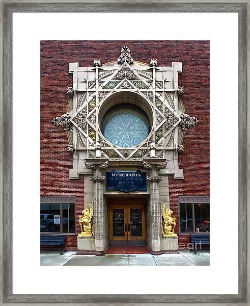 Grinnell Iowa - Louis Sullivan - Jewel Box Bank - 05 Framed Print